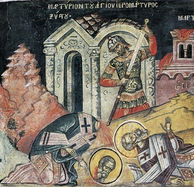 Священномученики архидиакон Лаврентий, папа Сикст, диаконы Феликиссим и Агапит, мученик Роман