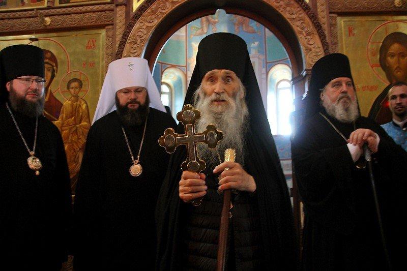 Визит схиархимандрита Илия (Ноздрина). Богослужение в Болдинском монастыре
