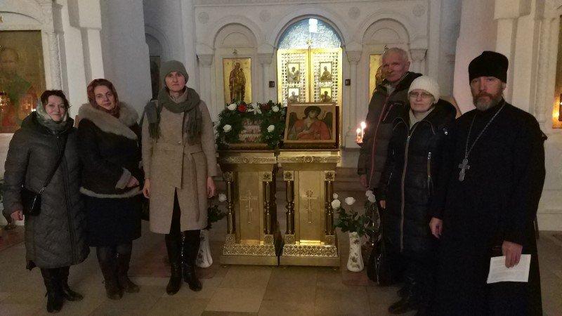 Слушатели курсов повышения квалификации посетили храм Архангела Михаила