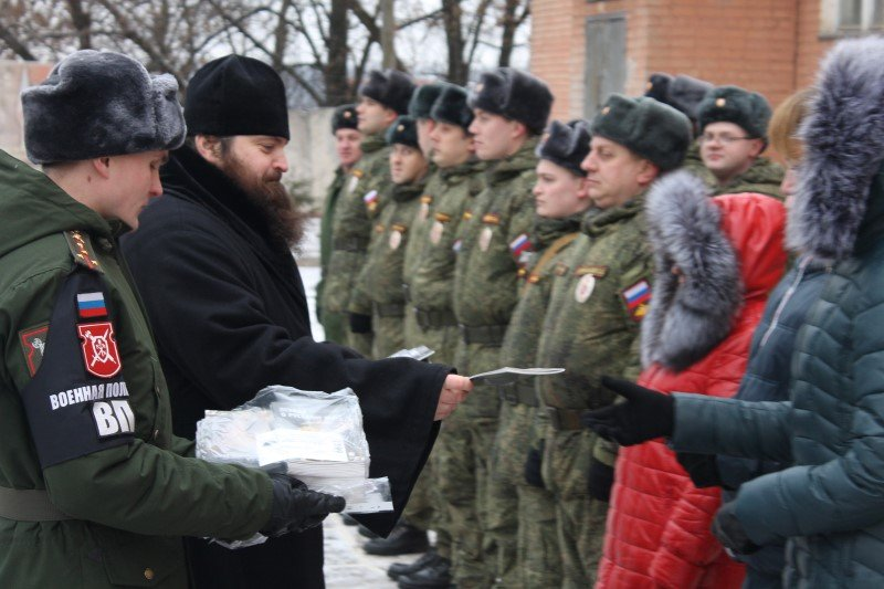 Священник поздравил с началом нового учебного этапа сотрудников военной комендатуры