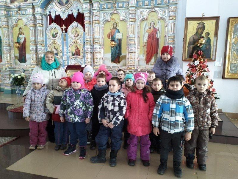 Дети побывали в Свято-Георгиевском соборе города Ярцево
