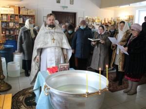 освящение воды в храме Преподобного Авраамия Смоленского